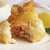 Salmon & Prawn Filo Purses recipes - #PinthePerfect #MaryBerry