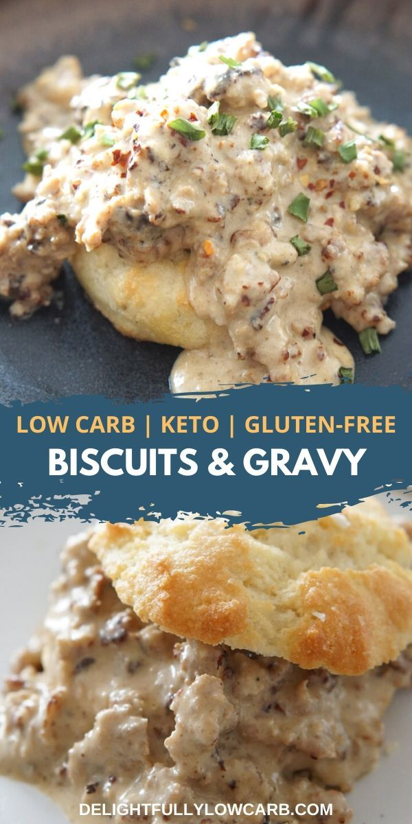 Biscuits And Gravy Doesn T Have To Be Something To Avoid While On A Keto Or Low Carb Diet This Keto Biscuits A In 2020 Biscuits And Gravy Keto Biscuits Keto Meal