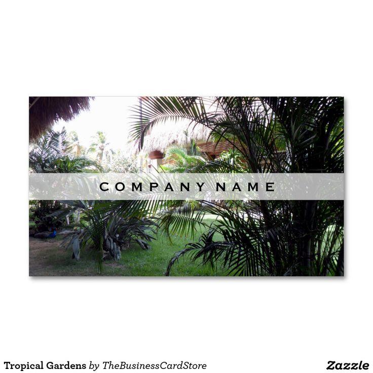 Tropical Gardens Business Card