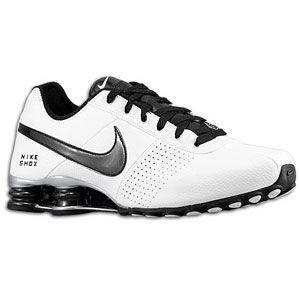 Nike Shox White Black Metallic Silver