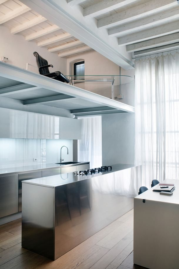 Loft In Florence - Picture gallery #architecture #interiordesign #kitchen