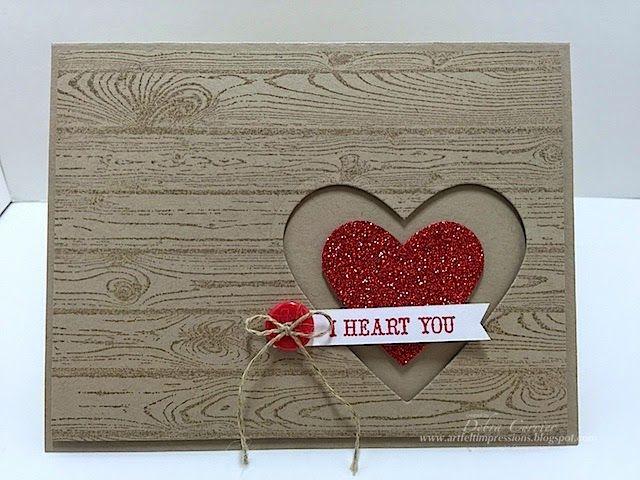 ARTfelt Impressions: Hardwood Hearts