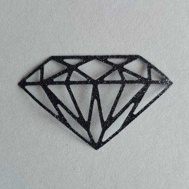 Diamant thermocollant noir pailleté
