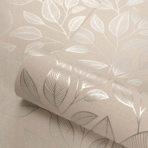 Belgravia Decor Wallpaper Memento Rosemoor Silver 9544