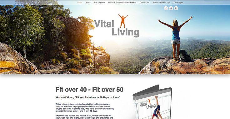 Web Design - Health & Fitness videos and ebooks shop