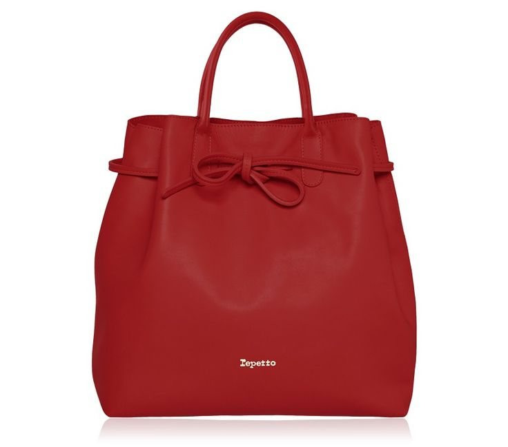 "Large Shopping Bag ""Arabesque"". Flammy Red Paris calfskin. #Repetto #RepettoBags #Red #Flammy #RepettoArabesque"