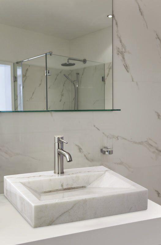 Above Counter Bowl Stone Rectangular Vessel Bathroom Sink Sink