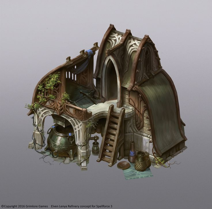 ArtStation - Spellforce 3 Elven buildings, Vladimir Krisetskiy