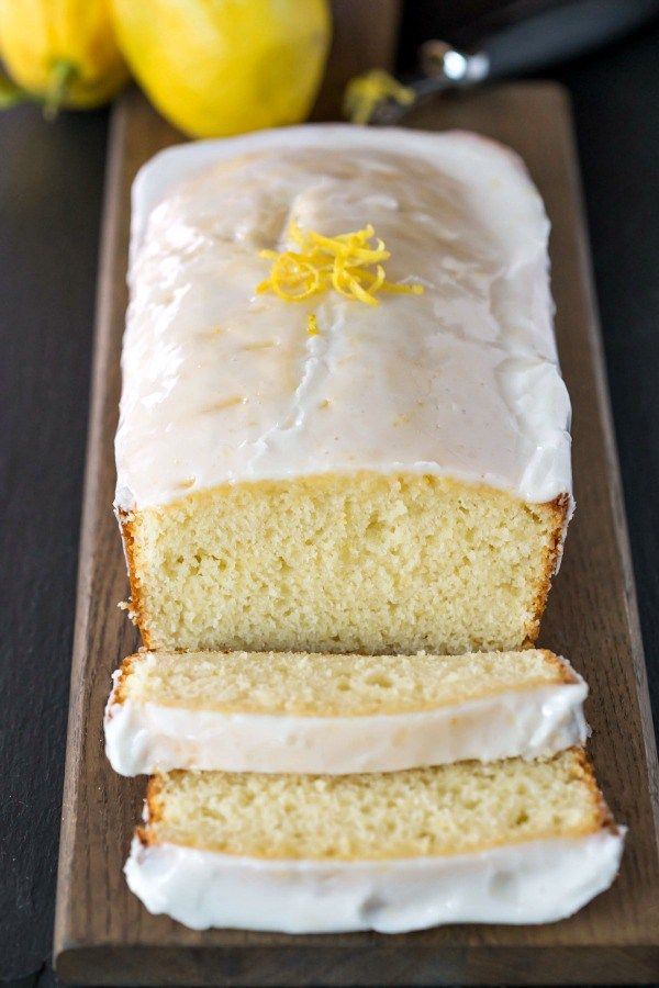 Iced Lemon Loaf Recipe - this quick bread is so super moist! It's the perfect mix of sweet and tart!