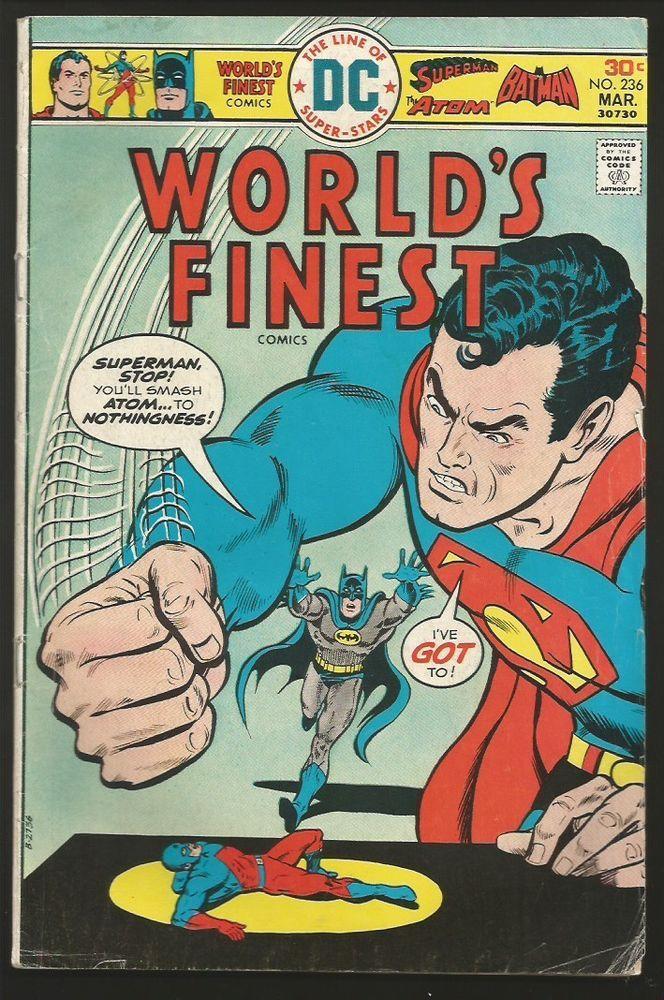 WORLD's FINEST #236 DC COMICS 1976 1st print and series SUPERMAN / Batman / Atom