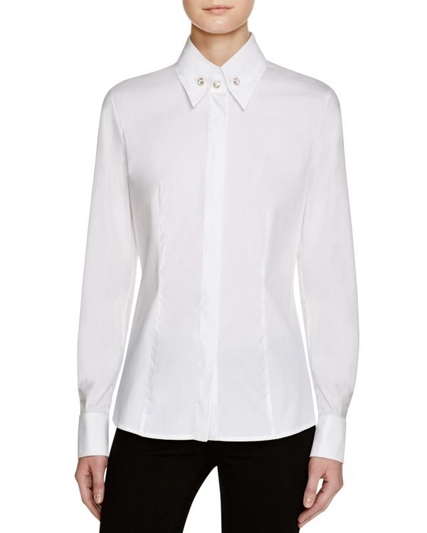 Escada Naville Poplin Button Down Shirt