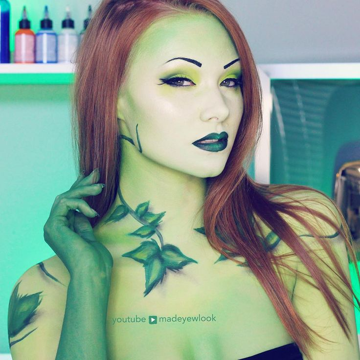 Poison Ivy Makeup and Costume