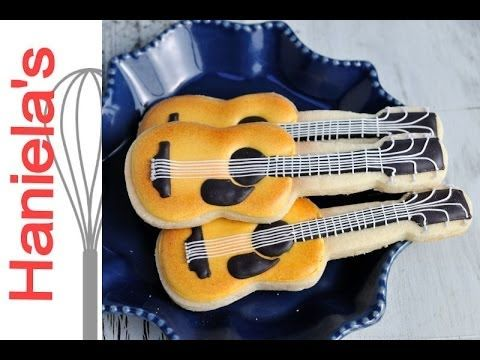Guitar Cookies Step by Step Tutorial  http://www.youtube.com/watch?v=oO2Ind9X4kI