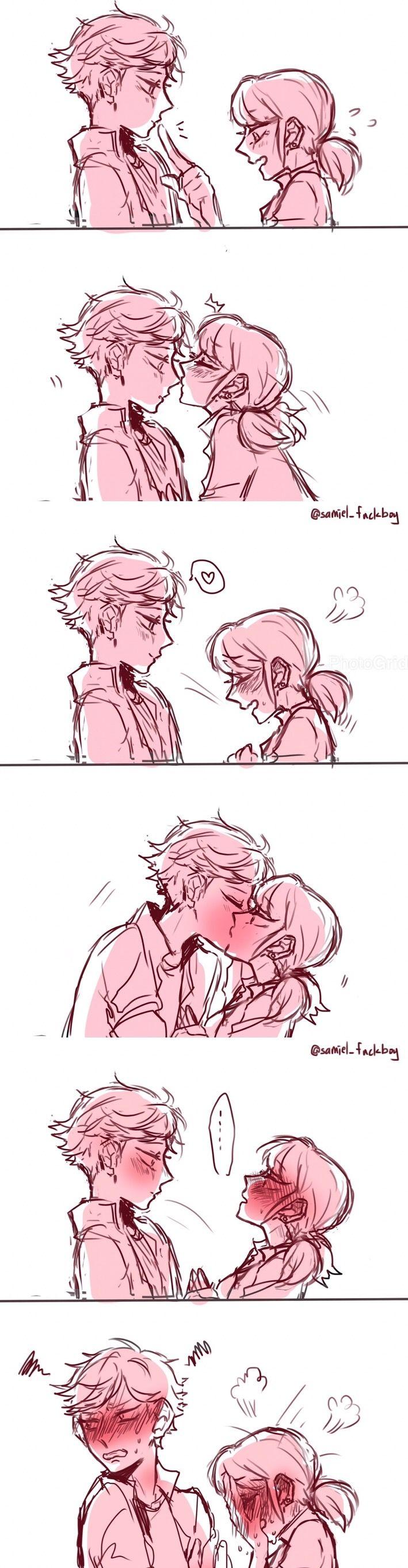 Marinette and Adrien | Kiss | Miraculous Ladybug | love -