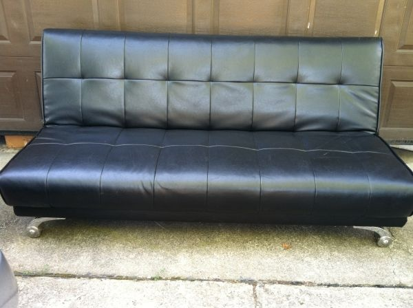 Medium image of nice black sturdy futon for sale