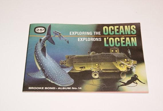 Vintage Brooke Bond Red Rose Tea Cards Album for Exploring the Oceans card series
