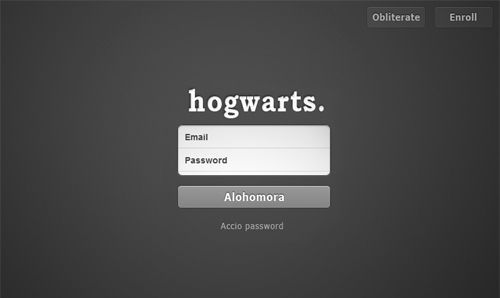 login to hogwarts...it looks suspiciously like tumblr...could it be...?!