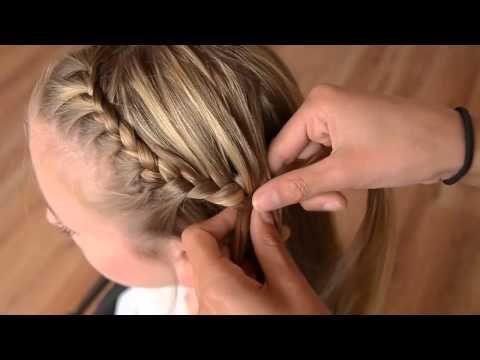 Minicursus haar invlechten 5 Combinatie vlecht - YouTube