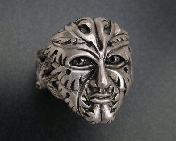 Sterling Green Man Ring by patrickburt on Etsy, $275.00