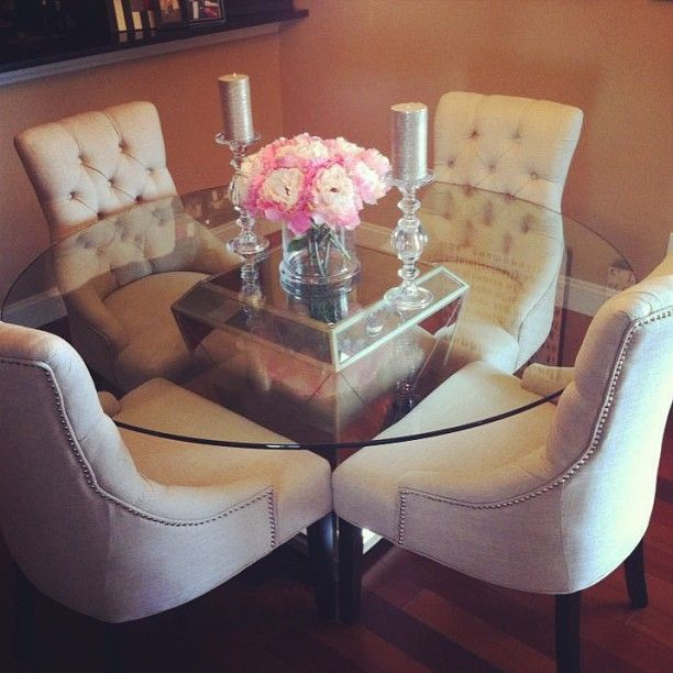 glass round dining table z gallerie - Google Search