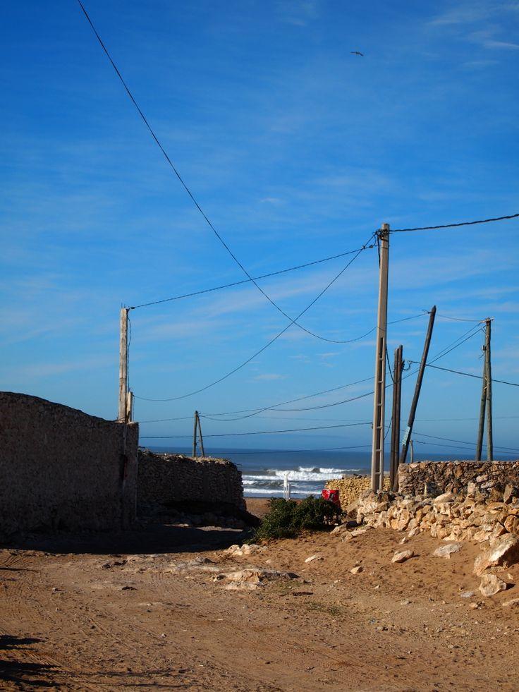 on the way to the beach at Sidi Kaouki
