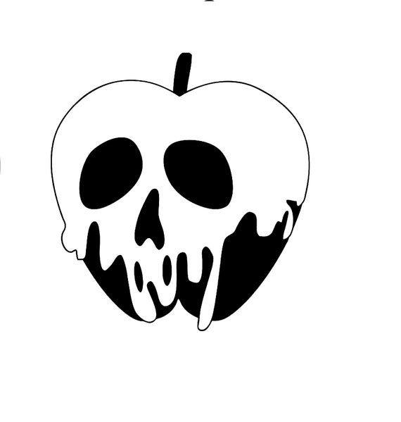 Disney Inspired Poison Apple Snow White Descendants Evil Queen Etsy In 2021 Apple Silhouette Snow White Drawing Snow White Apple