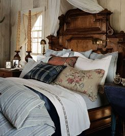 Ralph Lauren: Dreams Bedrooms, Ralph Lauren, Beaches Houses Bedrooms, Antiques Beds, Comforter, Puff, Sweet Dreams, Cozy Bedrooms, Cozy Beds