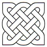 """How I Applique Celtic Knots"" by Raymond K. Houston.  He makes large-scale Celtic knot quilts with fusible applique rather than bias tape.  Get the how-to here."