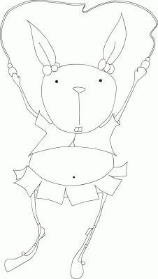 Шаблон для аппликации забавный кролик.