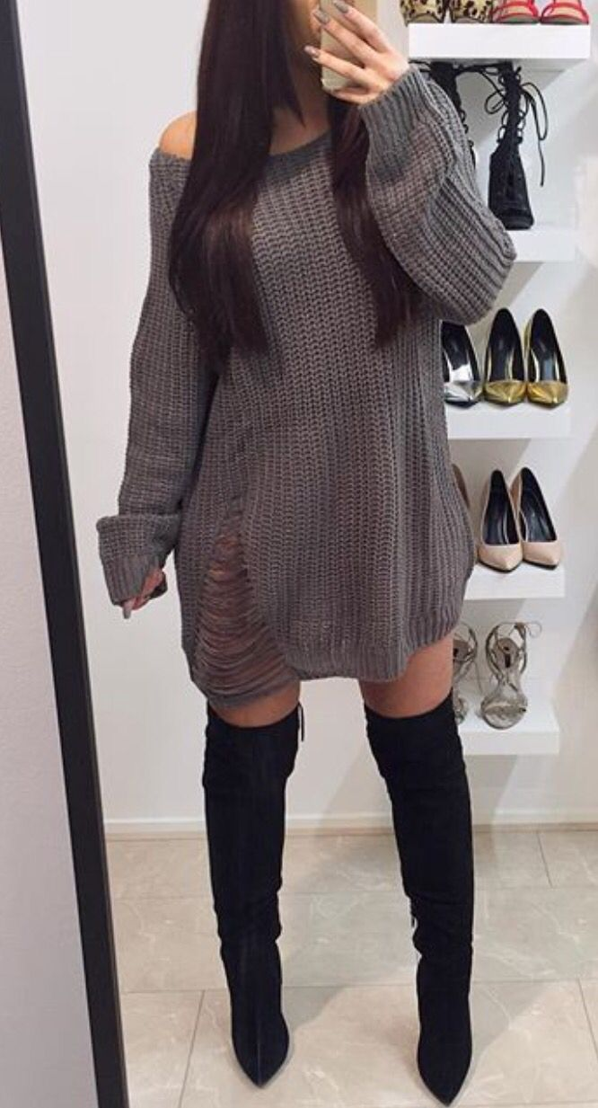 Best 25  Distressed sweater dress ideas on Pinterest | Winter ...
