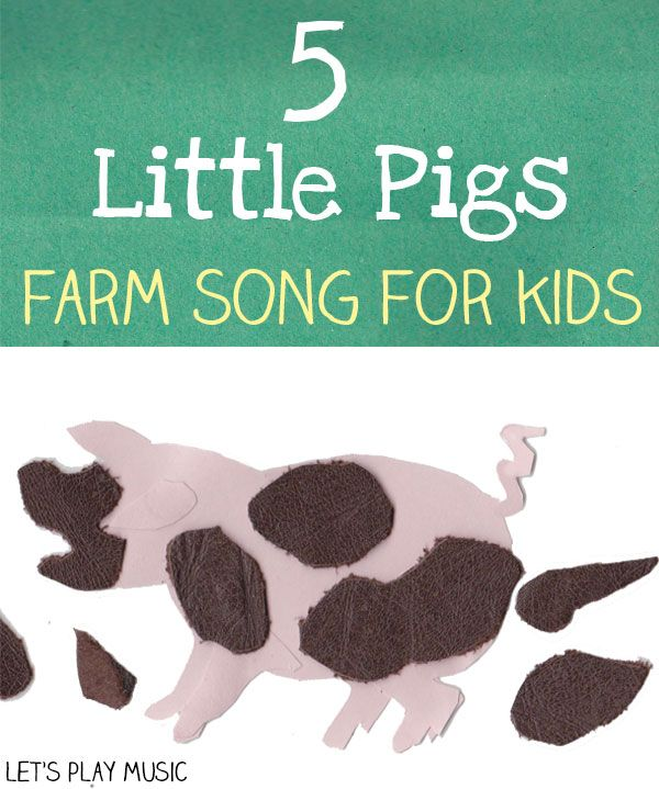 5 little pigs farm and counting song - celebrating squishy squashy mud!