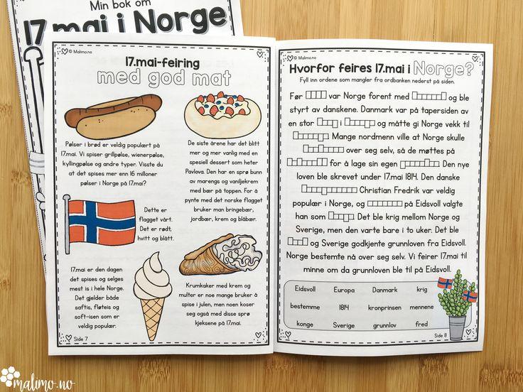 Formålet med minibokopplegget om 17.mai er å lære hvorfor og hvordan dagen feires i Norge. Innholdet i miniboken kommer inn på: fakta om feiringen av 17.mai, ulike dekorasjoner som brukes, tradisjonen med barnetog og borgertog, flagging, korps, arrangement på skoler, 17.mai-taler og deres innhold, ulike mat- og desserttradisjoner, bakgrunnen for 17.mai-feiring historisk sett og utviklingen av egen grunnlov. Noe er nevnt/informert om, mens andre emner er beskrevet i litt mer detalj.