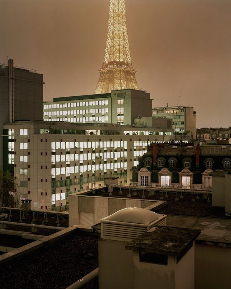 Paris Rooftops by Night