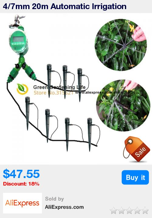 4/7mm 20m Automatic Irrigation System DIY Micro Irrigation Systems Drip Irrigation System Plant Garden Watering Kit * Pub Date: 13:32 Oct 23 2017