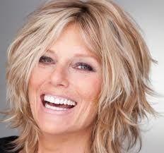 Patti Hansen's hair is a cute messy shaggy cut