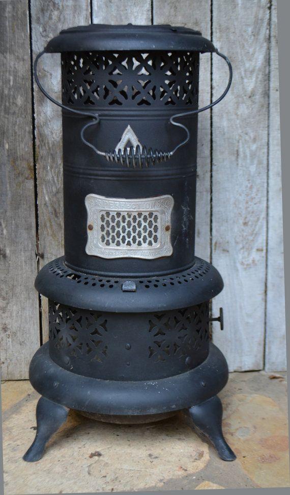 Perfection heater vintage kerosene heater smokeless oil heater no 530 free shipping - Small space wood stove model ...