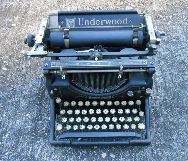 Old VINTAGE UNDERWOOD TYPEWRITER Model no 5 STEAMPUNK Works Well ANTIQUE MANUAL    eBay