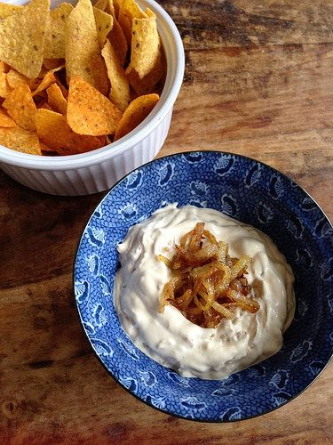 Uiendip recept - Onion dip - I am Cooking with Love