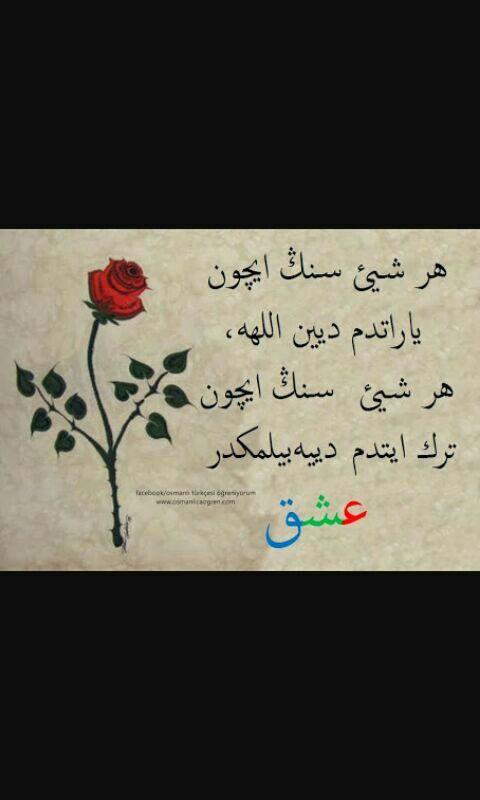 Her şeyi senin için yarattım diyen Allah , her şeyi senin için terk ettim diyebilmektir aşk...