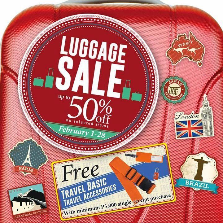 SM Store Luggage Sale Until Feb 28, 2015