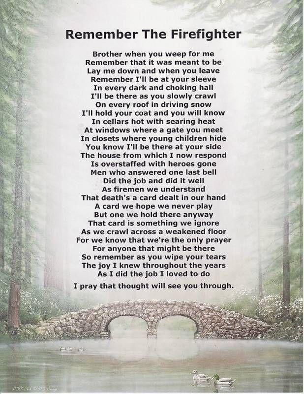 FIREMAN FIREFIGHTER Poem Prayer Personalized Name Print ...