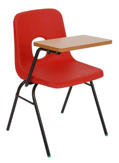 Series E chair with writing tablet