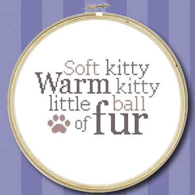 Soft Kitty Quote - Cross Stitch Chart