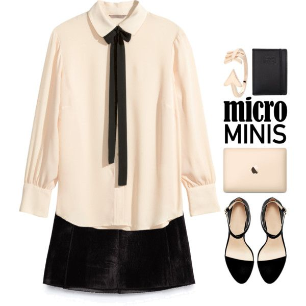 A fashion look from September 2015 featuring H&M blouses, Zara mini skirts и Bee Goddess rings. Browse and shop related looks.