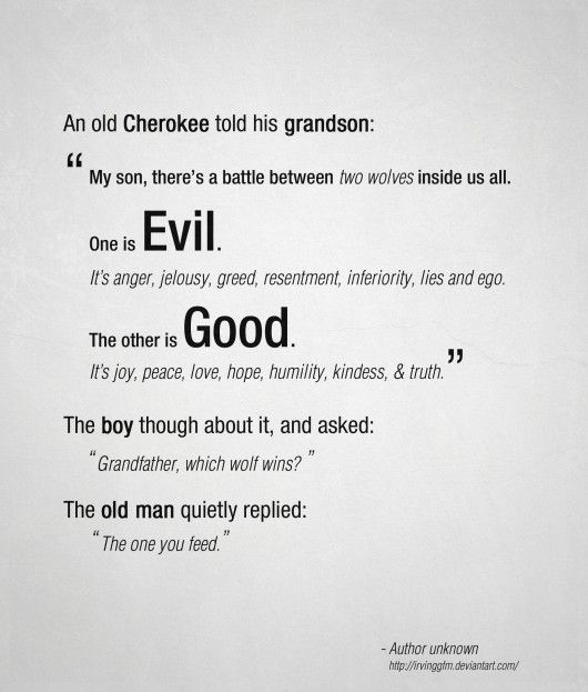 Good and evil.