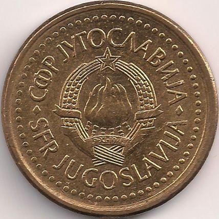 Motivseite: Münze-Europa-Südosteuropa-Jugoslawien-Dinar-0.10-1990-1991