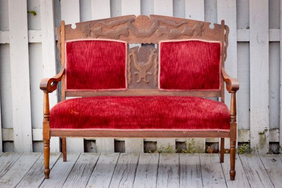 Antique Victorian Eastlake Upholstered Bench By Thesouthernmermaid 798 00 Vintage Home Decor