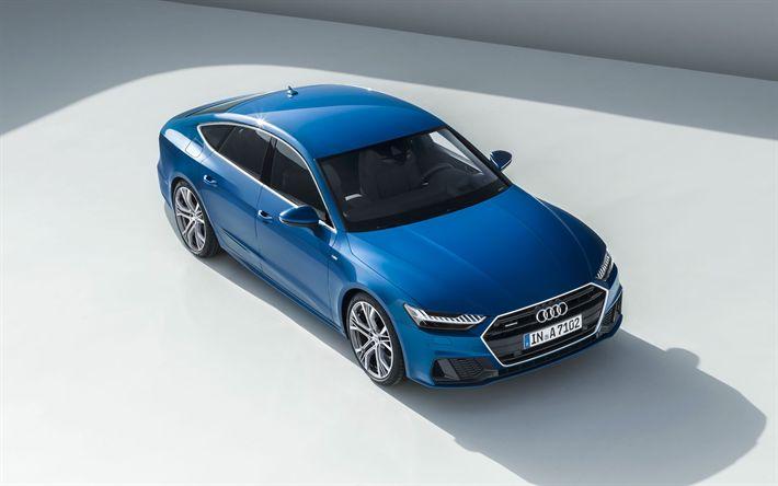 Download wallpapers Audi A7 Sportback, 2019 cars, new A7 Sportback, german cars, Audi