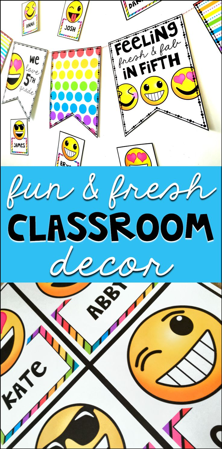 When you need something fun, fresh, and low-prep, this classroom decor set is just the perfect thing! It comes with ready-to-print banner pages that you can customize with the exact phrasing you'd like. It also comes with 36 different emoji tags you can customize and put your students' names on, with the font you choose. It's emoji-fabulous!