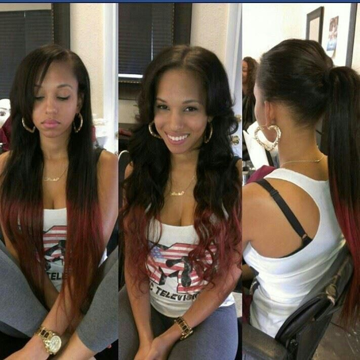 360 degree sew inSew Ins, Long Hair, Beautiful, Sewing In Weaving Hairstyles, Hair Style, Versatile Sewing In Weaving, Ponies Tail, Black Hairstyles With Weaving, Red Black